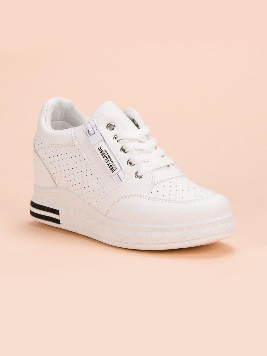 Białe sneakersy damskie evolutions